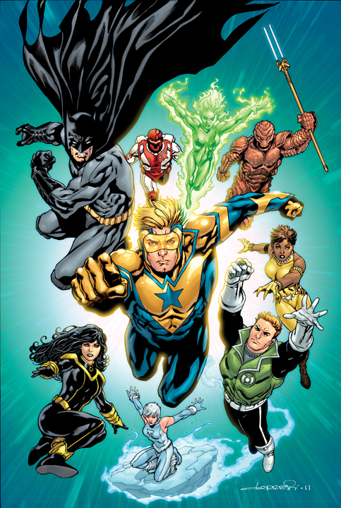 The JLI is back! While it's strange to see some of the iconic members missing, namely Blue Beetle and Captain Atom, I'm more than happy to see the return of Batman and Guy Gardner (Green Lantern)!