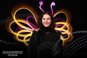 """Das Bild entstand bei der Aktion zur Veranstaltung """"Unterwegs im Licht"""" im Museum Barberini."""