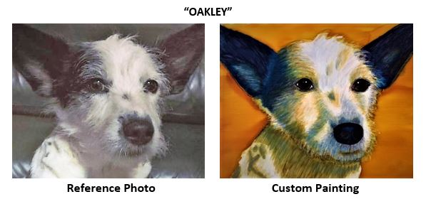 """""""Oakley"""" alcohol ink painting"""