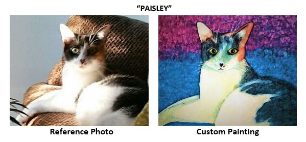 """""""Paisley"""" alcohol ink painting"""