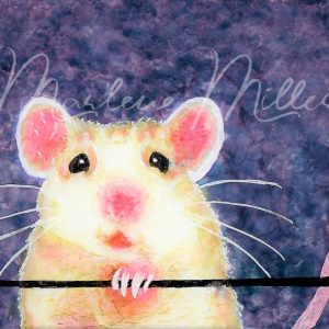 """""""Rattie"""" alcohol ink painting"""