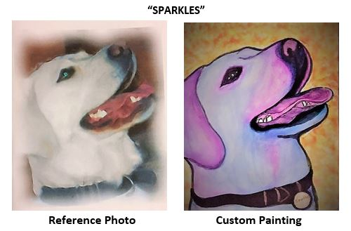 """""""Sparkles"""" alcohol ink painting"""