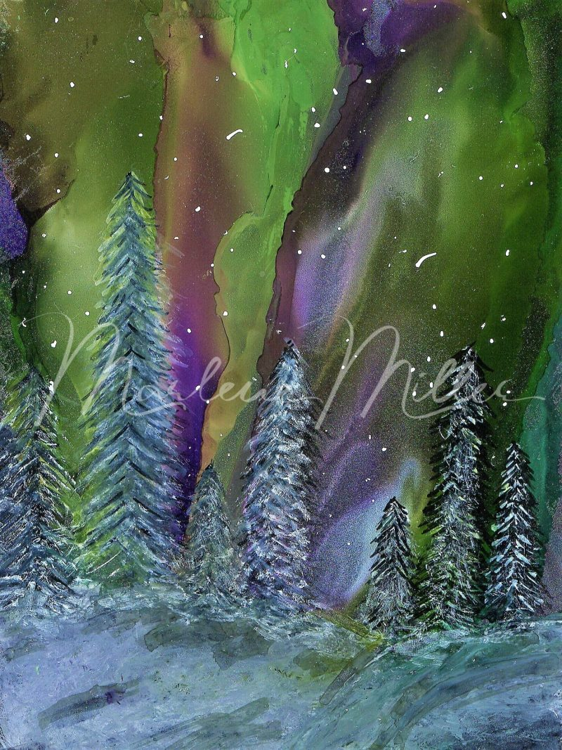 """""""Del Mar"""" alcohol ink painting"""