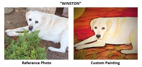 """""""Winston"""" alcohol ink Pet Portrait painting"""