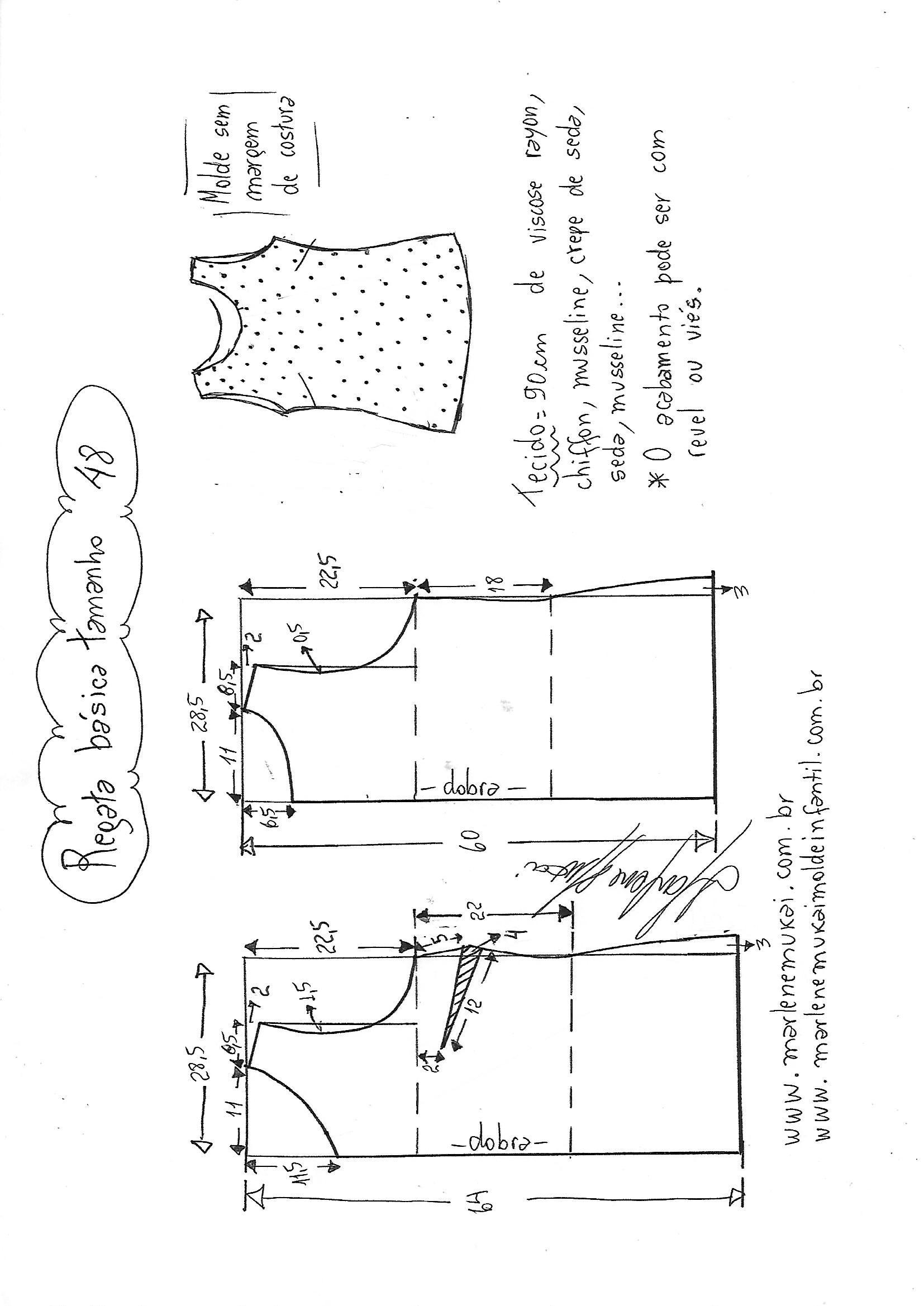 Esquema de modelagem de regata básica 48. bc2a1197dae