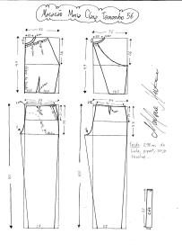 Esquema de modelagem do Macacão Maria Clara tamanho 56.