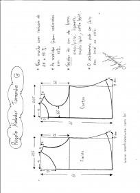 Esquema de Modelagem de regata nadador tamanho G.