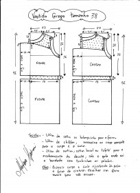 Esquema de vestido de festa estilo grego tamanho 38.