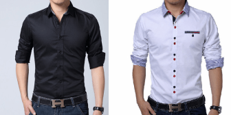 Uma camisa masculina mais justa ao corpo. Segue esquema de modelagem do 36 ao 56