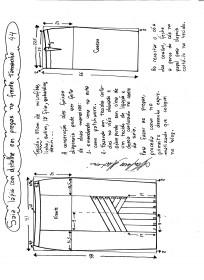 Esquema de modelagem da saia lápis com pregas na frente 44.