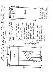 Esquema de modelagem da saia lápis com pregas na frente 48.