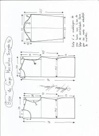 Esquema de modelagem de Base do Corpo Masculino tamanho 46.