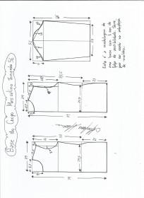 Esquema de modelagem de Base do Corpo Masculino tamanho 56.