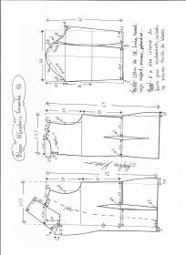 Esquema de modelagem de blazer alfaiataria gola de bico tamanho 46.