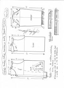 Esquema de modelagem de jaqueta bomber, college, americana ou varsity tamanho PP.