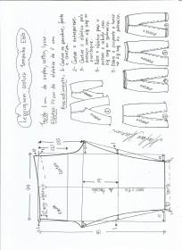 Esquema de modelagem de legging sem costura lateral EGG.
