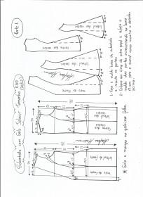 Esquema de modelagem de Sobretudo com gola jabour tamanho EGG. 1ª Parte.