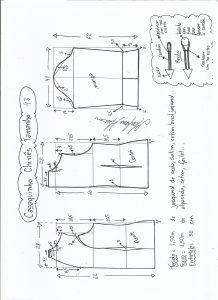 Esquema de modelagem de casaquinho chinês tamanho 48.