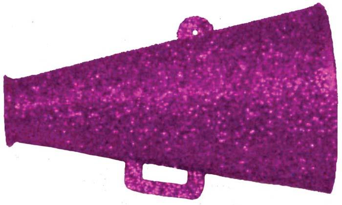 GL3002 1 34 Glittered Megaphone