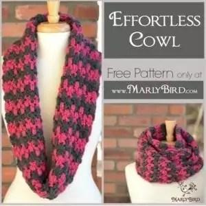 Free Crochet Cowl Pattern at www.MarlyBird.com