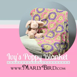 IvyPoppyBlanket by Marly Bird. Free Pattern at MarlyBird.com