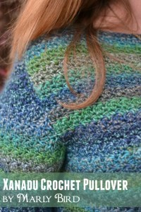 Free Pattern and Video Tutorial for the Xanadu Crochet Pullover by Marly Bird. www.MarlyBird.com
