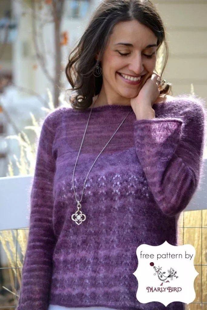 Blackberry Boatneck Sweater Marly Bird