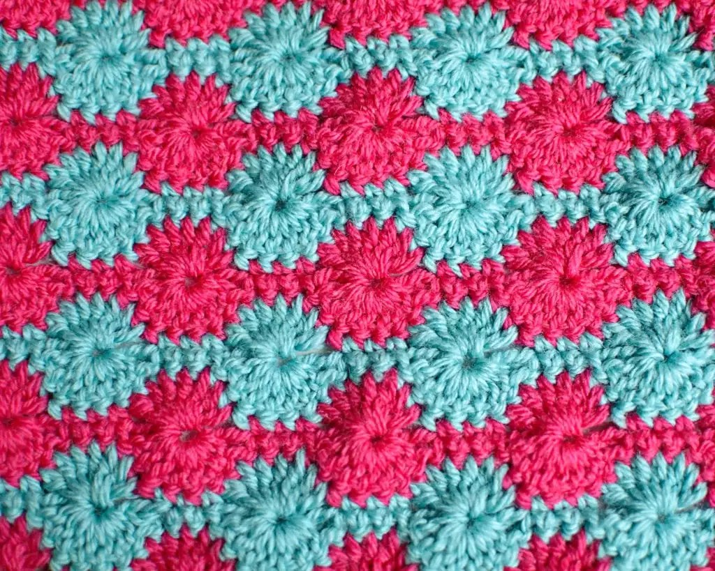 Catherine's Wheel Crochet Stitch Pattern Free Tutorial HD Video by Marly Bird