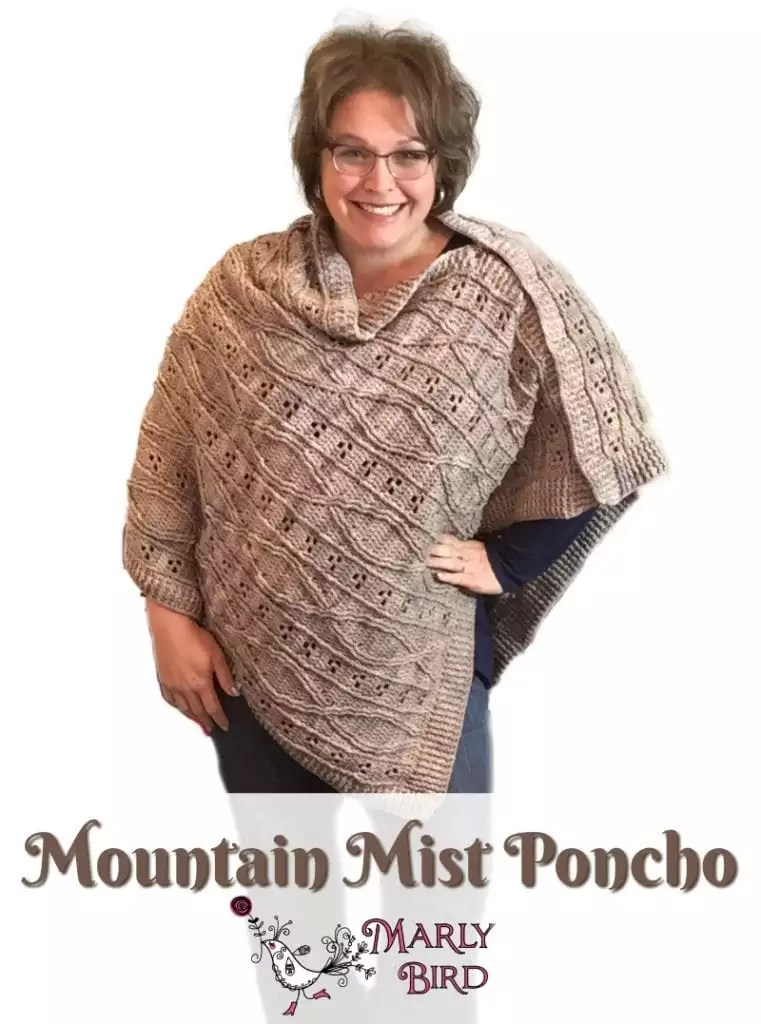 Marly Bird Mountain Mist Poncho Crochet Pattern