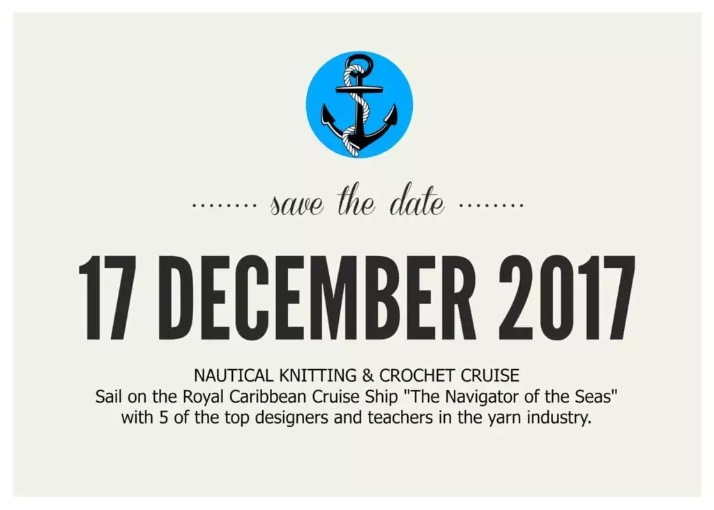 Nautical Knitting and Crochet Cruise with Marly Bird December 2017