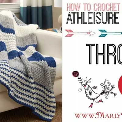 Athleisure Striping Throw Crochet Pattern