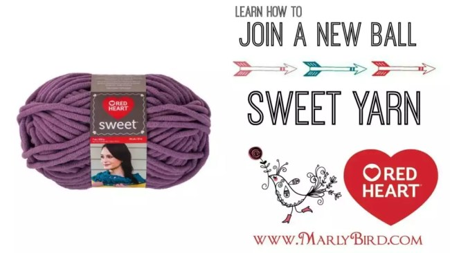 Crochet Beginner Shells Blanket by Marly Bird - How to join a new ball of Sweet Yarn