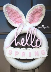 Crochet Bunny Wreath