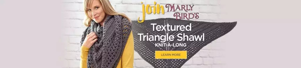 Marly Bird Knit Along Textured Triangle Shawl
