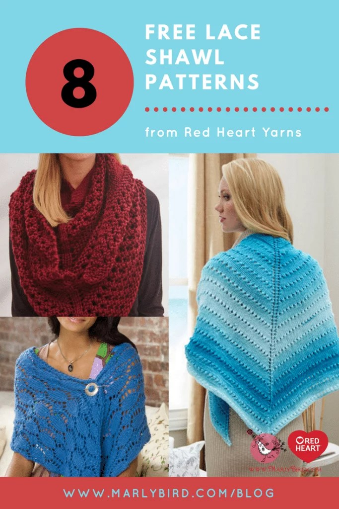 Free knit lace shawl patterns marly bird 8 free knit lace shawl patterns bankloansurffo Image collections
