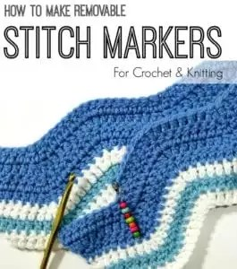 How to make removable stitch markers for knit and crochet