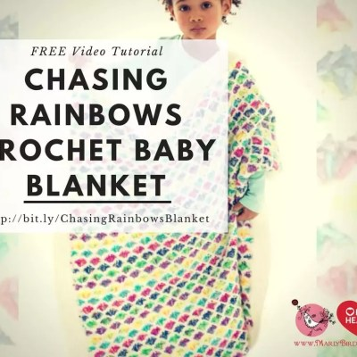Chasing Rainbows Crochet Baby Blanket with Video Tutorial