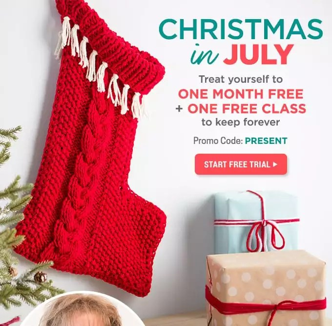 Christmas In July creativebug Stocking class with Marly Bird