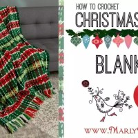 How to Crochet Plaid Christmas Afghan