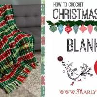 How to Crochet Plaid Christmas Afghan