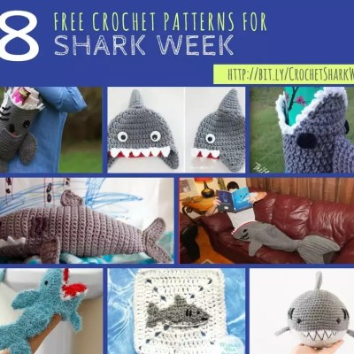 8 Free Shark Crochet Patterns for Shark Week