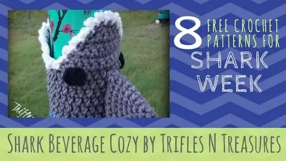 Shark Beverage Cosy by Trifles N Treasures