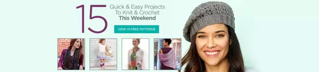 15 Quick & Easy Projects to knit & crochet this weekend from Red Heart