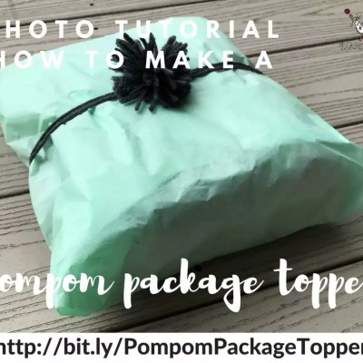 Photo Tutorial-Making A Pompom Package Topper