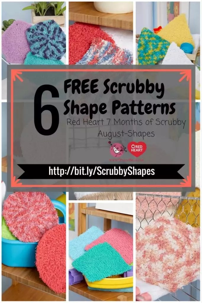 6 Free Scrubby Shapes Patterns from Red Heart