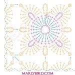 Marly Bird Granny Square Motif Cardigan Section 1