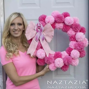 Pom Pom Projects: Pink Ribbon Pom Pom Wreath