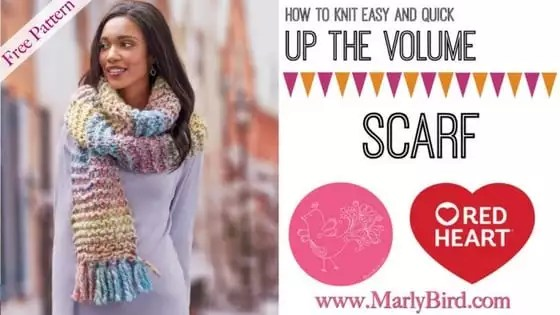 Video Tutorial Up the Volume Scarf
