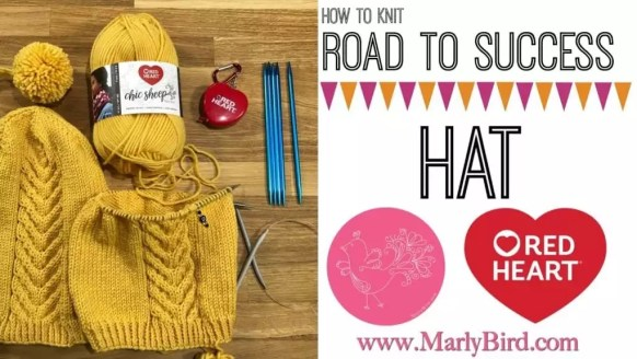 Video Tutorial: How to knit the Road to Success Chic Hat with Marly Bird