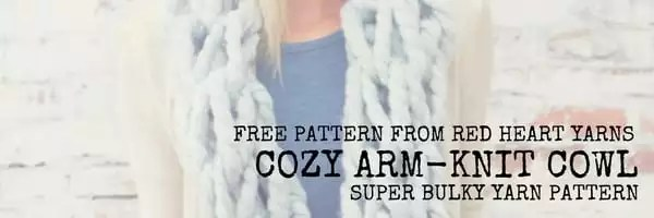 FREE Pattern-Cozy Arm Knit Cowl